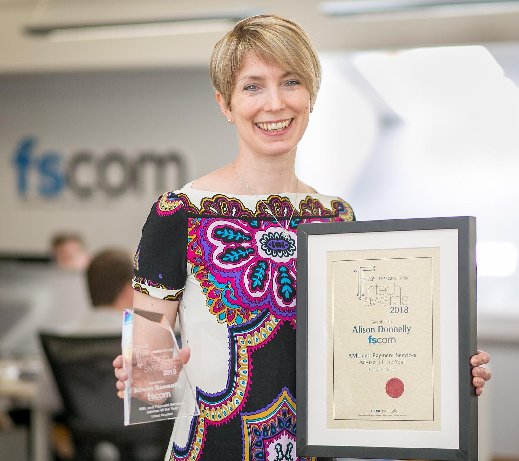 fscom director Alison Donnely scoops awards