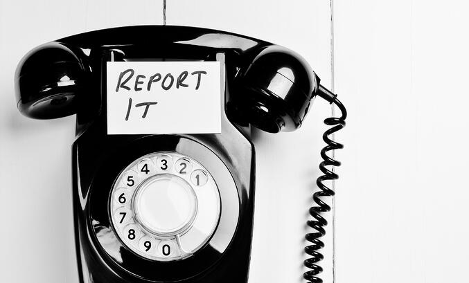 report it telephone smaller